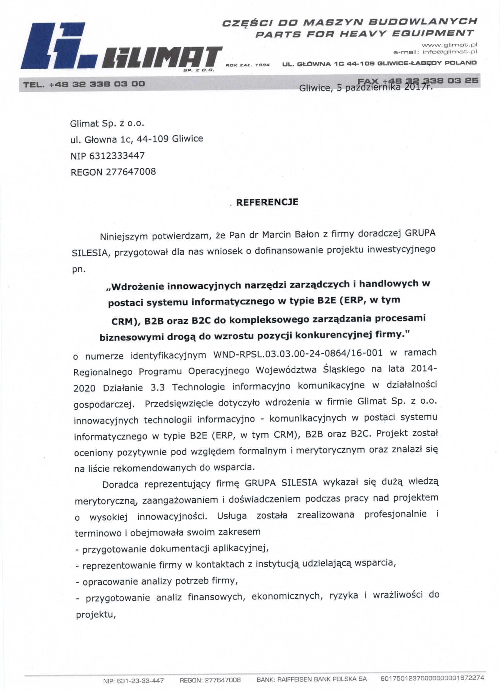 Glimat Sp. z o.o.RPO WSL 3.3